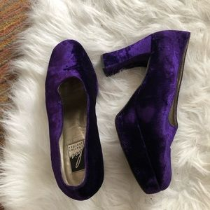 Charles Jourdan | Purple Velvet Heels